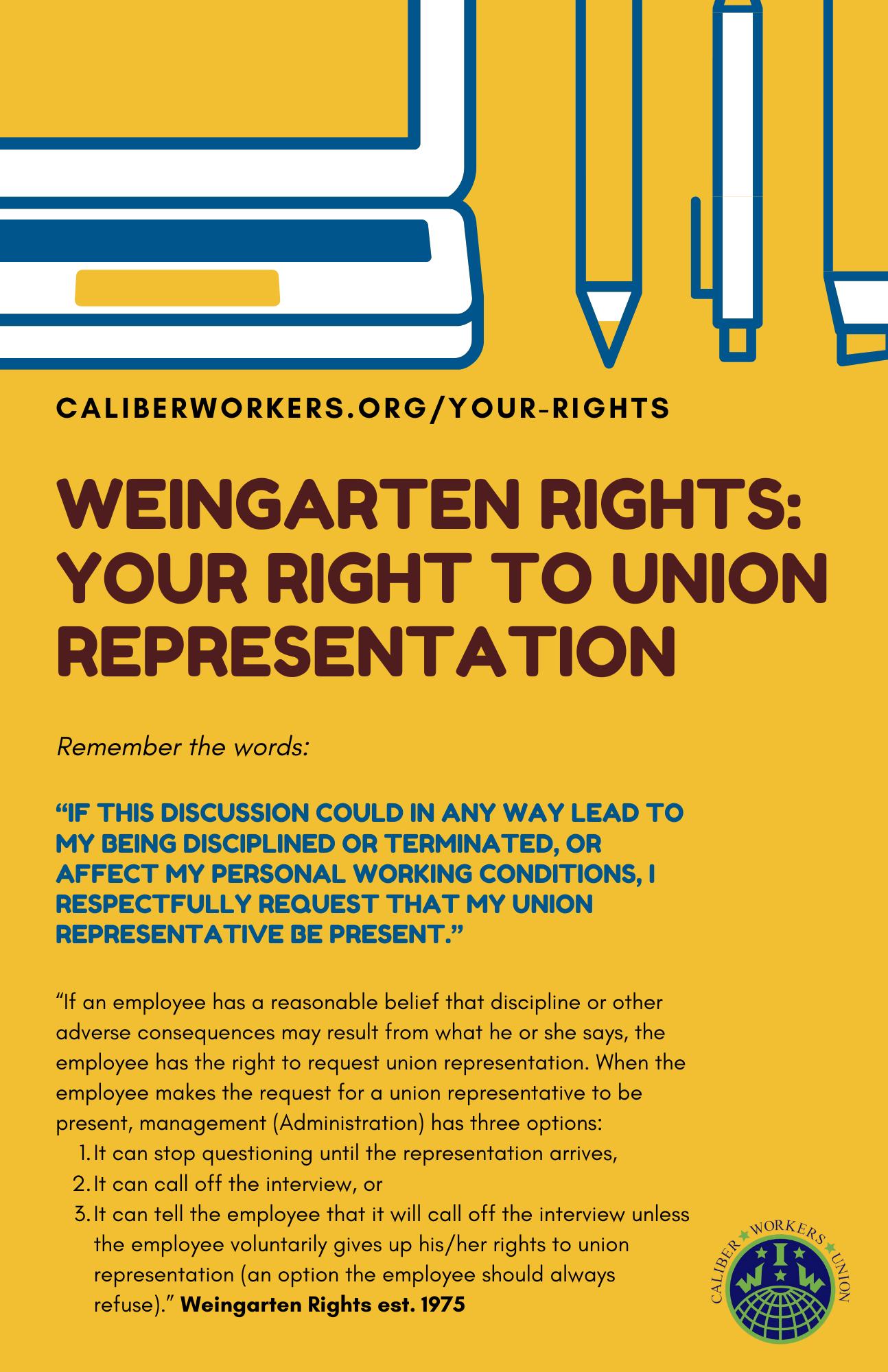 Weingarten Rights Reminder